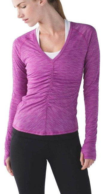 Item - Heathered Ultra Violet Interval Activewear Top Size 4 (S)