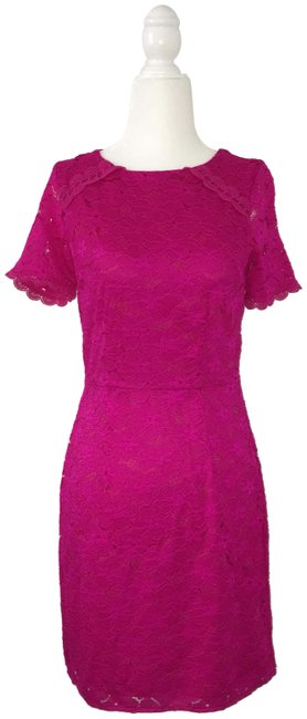 Preload https://img-static.tradesy.com/item/25355782/oasis-bright-pink-lace-mid-length-formal-dress-size-2-xs-0-1-650-650.jpg