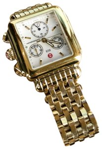 Michele Michele Deco Gold Stainless Steel Ladies Watch Analog SALE!