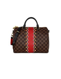Louis Vuitton Speedy Speedy Bandouliere Damier Canvas Satchel in Brown