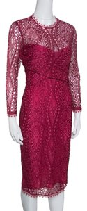 Emilio Pucci Lace Scalloped Draped Dress