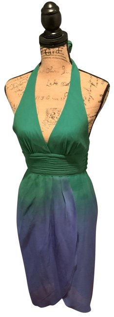 Item - Ever Green Blue Tulip Mid-length Night Out Dress Size 0 (XS)