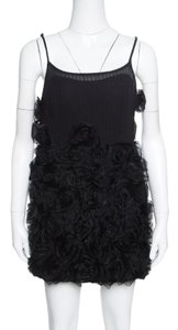 Marc by Marc Jacobs short dress Black Applique Silk on Tradesy