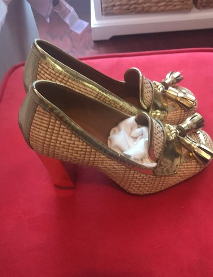 Tory Burch Gold Wedges Image 1