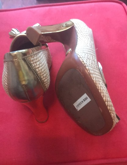 Tory Burch Gold Wedges Image 3