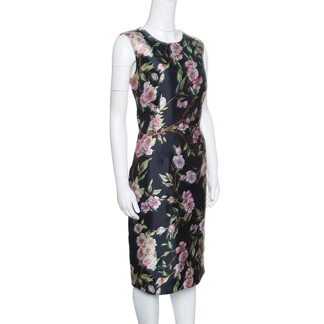 Dolce&Gabbana short dress Black Floral Sleeveless Print on Tradesy Image 1