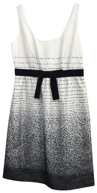 Item - Black and Cream Be Dazzled Mid-length Cocktail Dress Size 10 (M)