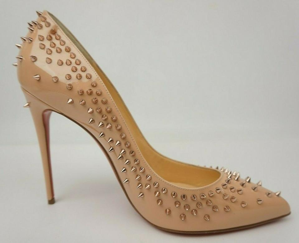 premium selection 7c977 51c32 Christian Louboutin Nude Escarpic Patent Leather Gold Spike Heels Pumps  Size EU 41 (Approx. US 11) Regular (M, B)