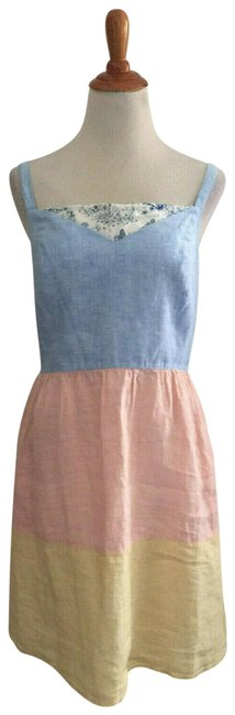 Cynthia Rowley Sleeveless Linen Short Casual Dress Size 14 L Tradesy