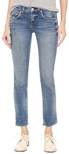 AMO Capri/Cropped Denim-Light Wash
