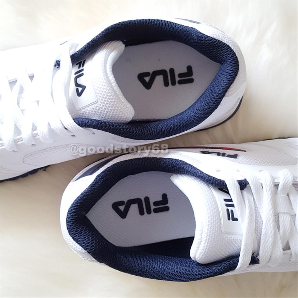 Off White and Navy Womens High Top Tennis Sneakers Size US 8.5 Regular (M, B)