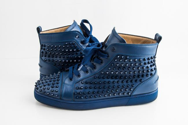 Item - Blue Louis Spikes High-top Sneakers Shoes