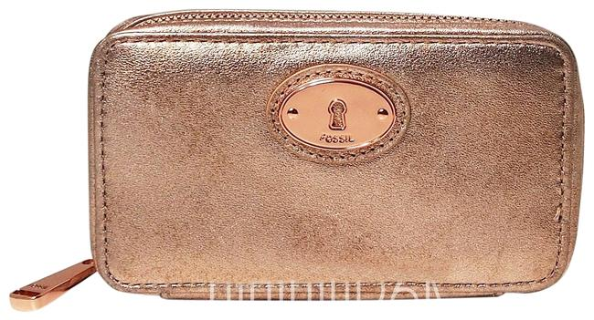 Item - Jewelry Case Pouch Rose Gold Cowhide Leather Weekend/Travel Bag