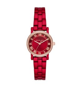 52b80ce0f8569 Michael Kors Women's Norie Red Coated Stainless Steel Watch MK3896