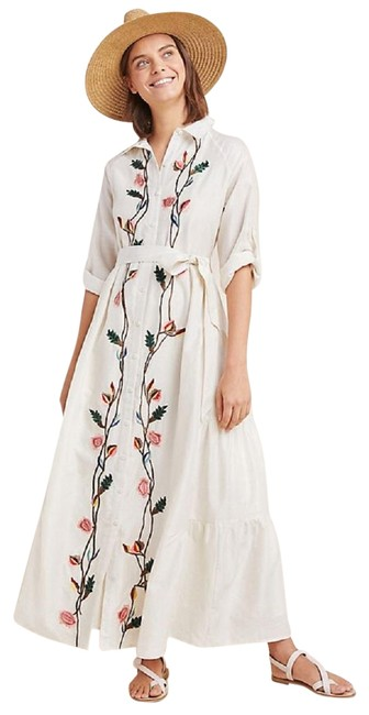 Preload https://img-static.tradesy.com/item/25357440/anthropologie-ivory-embroidered-tiered-maxi-shirtdress-by-samant-chauhan-workoffice-dress-size-4-s-0-1-650-650.jpg