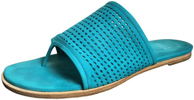 Item - Turquoise Edge 2 Perforated Suede Slide Sandals Size US 7.5 Regular (M, B)
