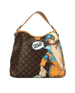 Louis Vuitton Limited Painted Spaceman Astronaut France Hobo Bag
