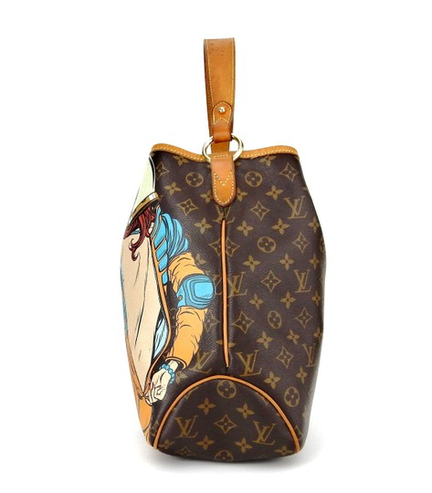 Louis Vuitton Limited Painted Spaceman Astronaut France Hobo Bag Image 4