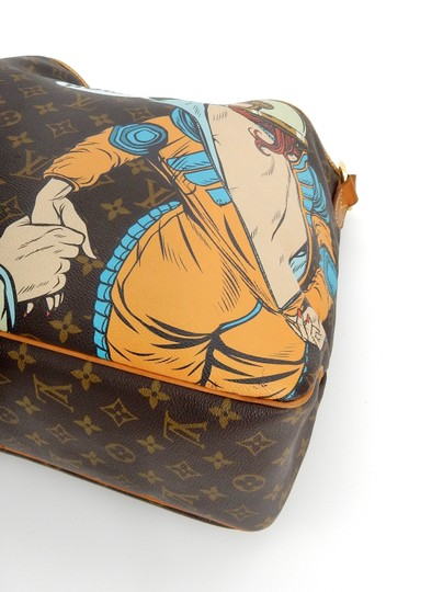 Louis Vuitton Limited Painted Spaceman Astronaut France Hobo Bag Image 5