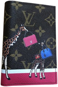 Louis Vuitton Louis Vuitton Monogram Giraffe Xmas Passport Cover