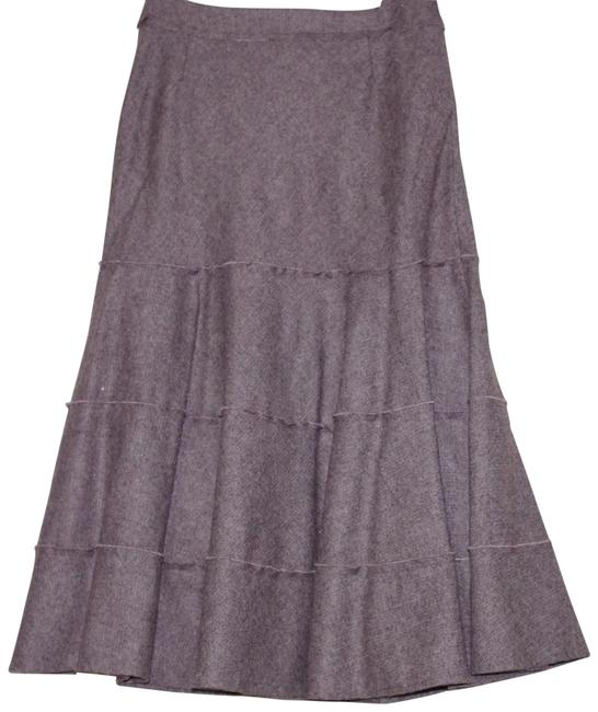 Item - Brown Wool Blend Ruffle Flare Skirt Size 6 (S, 28)