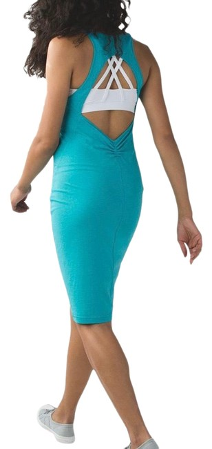 Item - Heathered Surge ( Go For It ) Mid-length Short Casual Dress Size 10 (M)
