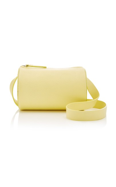Item - Cylinder Sling Yellow Leather Cross Body Bag