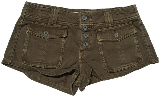 Item - Green Cora Button Front Shorts Size 4 (S, 27)