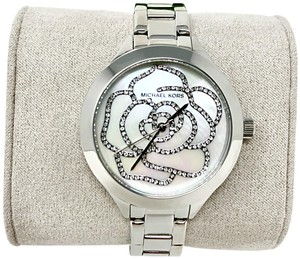 Michael Kors Women's Slim Runway Silver-Tone Watch MK3991
