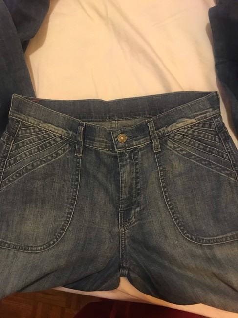 7 For All Mankind Flare Leg Jeans-Light Wash Image 3