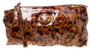Gucci Patent Leather Brown Clutch