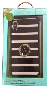 Kate Spade NWT Kate Spade Black And White striped Iphone Xs MAX Case With Ring Stand