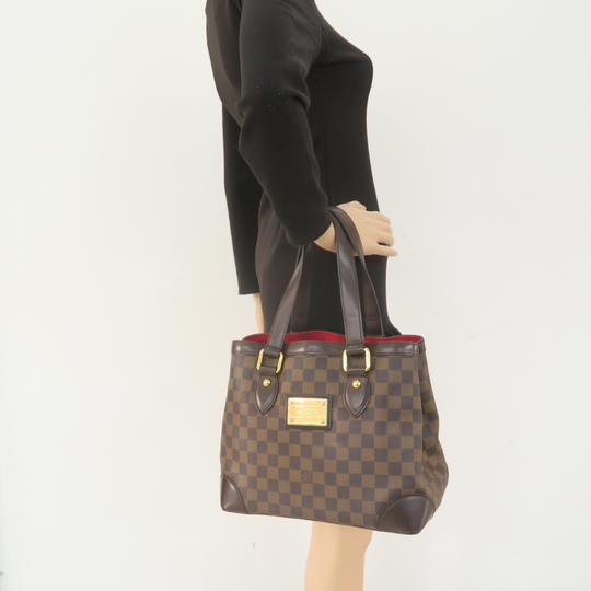 Louis Vuitton Lv Hampstead Pm Ebene Canvas Tote in Brown Image 11