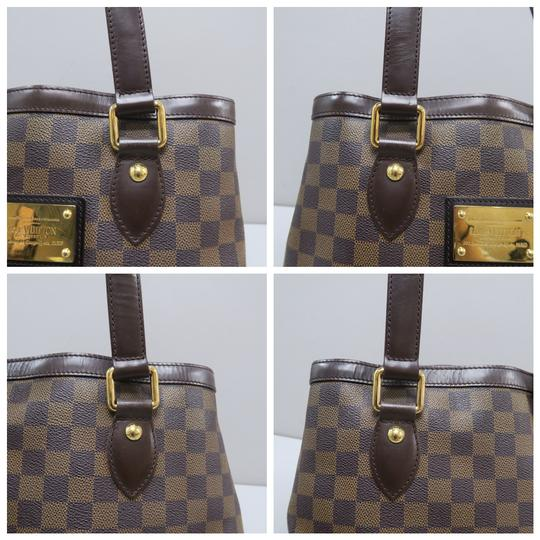 Louis Vuitton Lv Hampstead Pm Ebene Canvas Tote in Brown Image 6