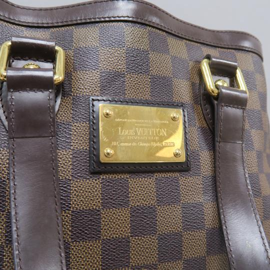 Louis Vuitton Lv Hampstead Pm Ebene Canvas Tote in Brown Image 7
