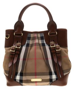 Burberry Canvas Leather Shoulder Bag