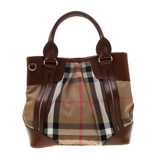 Burberry Canvas Leather Shoulder Bag Image 1