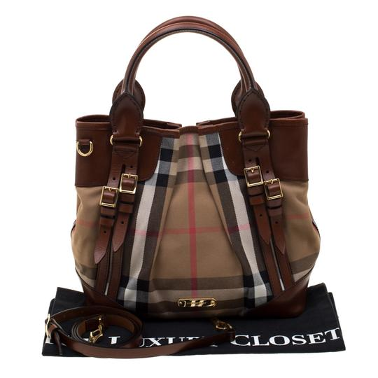 Burberry Canvas Leather Shoulder Bag Image 11