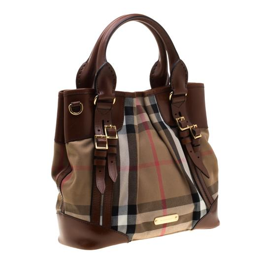 Burberry Canvas Leather Shoulder Bag Image 3