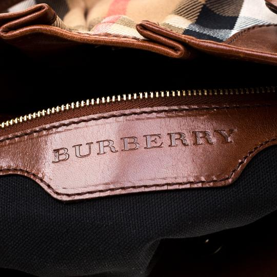 Burberry Canvas Leather Shoulder Bag Image 5