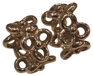 PANDORA Authentic Pandora Trinity Flower Spacers G585 ALE Solid Gold Retired Pandora Spacers