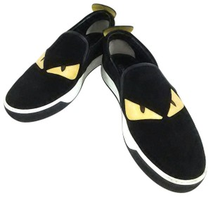 Fendi Suede Slip On black Flats