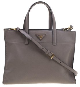 Prada Leather Tote in Beige