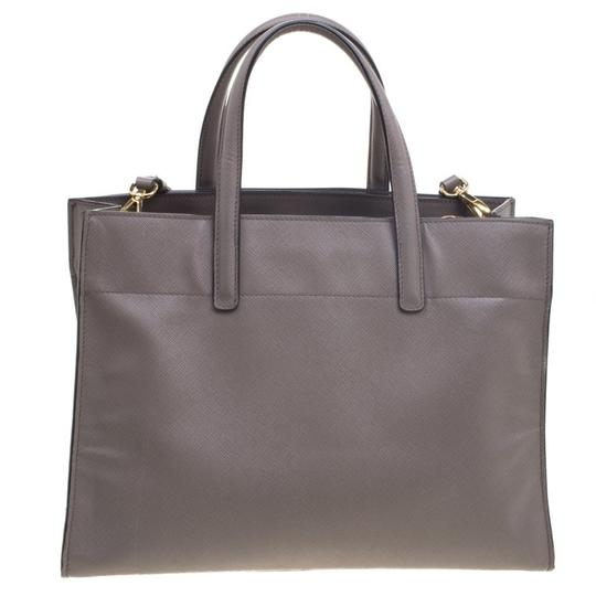 Prada Leather Tote in Beige Image 1