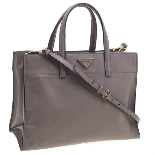 Prada Leather Tote in Beige Image 3