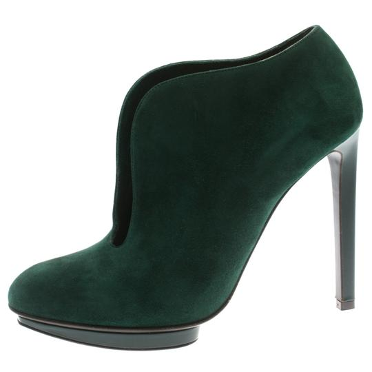 Alexander McQueen Suede Ankle Green Boots Image 1