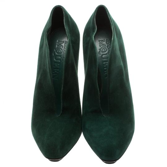 Alexander McQueen Suede Ankle Green Boots Image 2