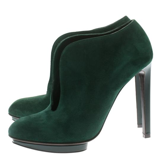 Alexander McQueen Suede Ankle Green Boots Image 3