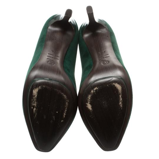 Alexander McQueen Suede Ankle Green Boots Image 5