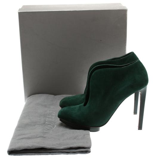 Alexander McQueen Suede Ankle Green Boots Image 7